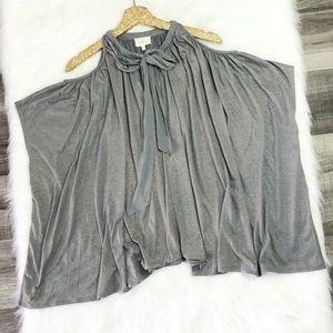 Anthropologie Deletta Open-Shoulder Shimmer Top